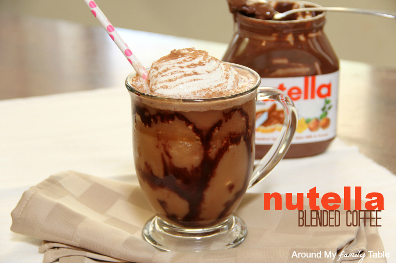 Nutella blended coffee