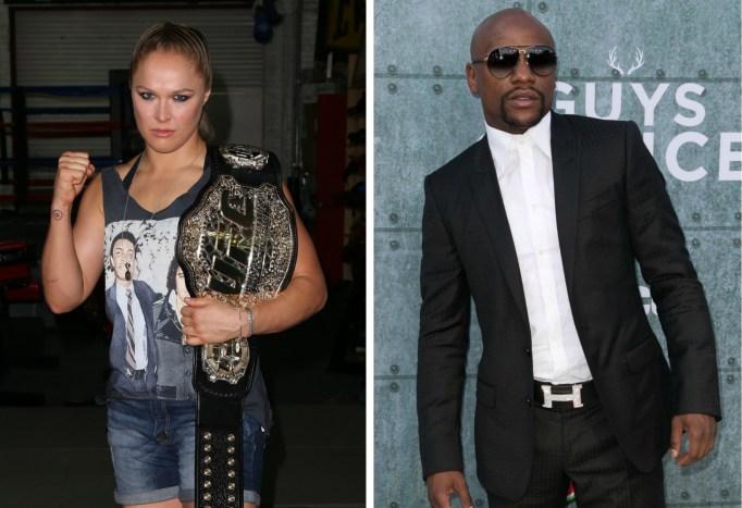 Floyd Mayweather Ronda Rousey feud