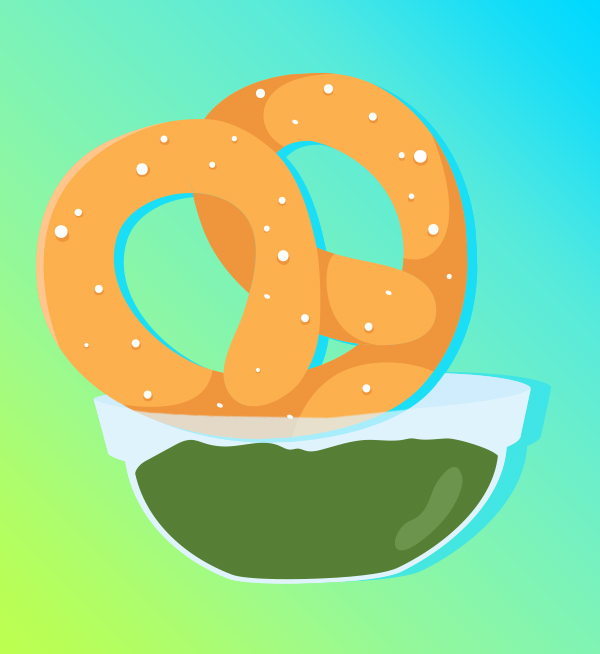 Soft pretzel pairings: Zhug and lebneh are a spicy, creamy dip duo