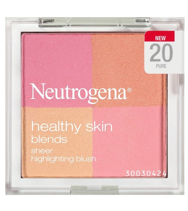Best Drugstore Blushes Under $11: Neutrogena Healthy Skin Blends Sheer Highlighting Blush in Pure | Drugstore Makeup 2017