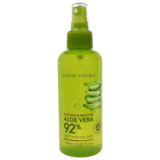 Best under face mists to try today | Nature Republic Soothing & Moisture Aloe Vera 92% Soothing Gel Mist