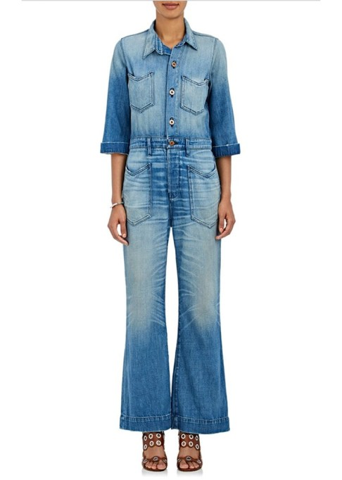 Best jumpsuits for the summer-to-fall transition: NSF Charley Cotton Denim Jumpsuit | Fall Fashion 2017