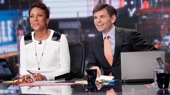 Robin Roberts and George Stephanopoulos anchor