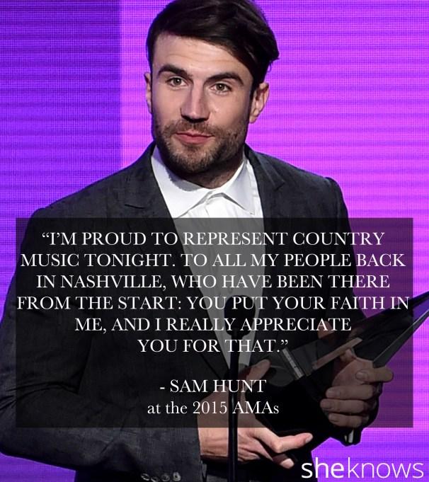 Sam Hunt 2015 American Music Awards