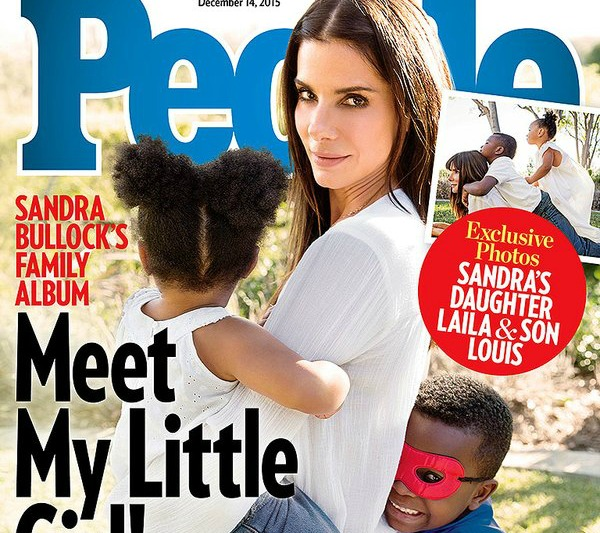 Sandra Bullock and her adopted children