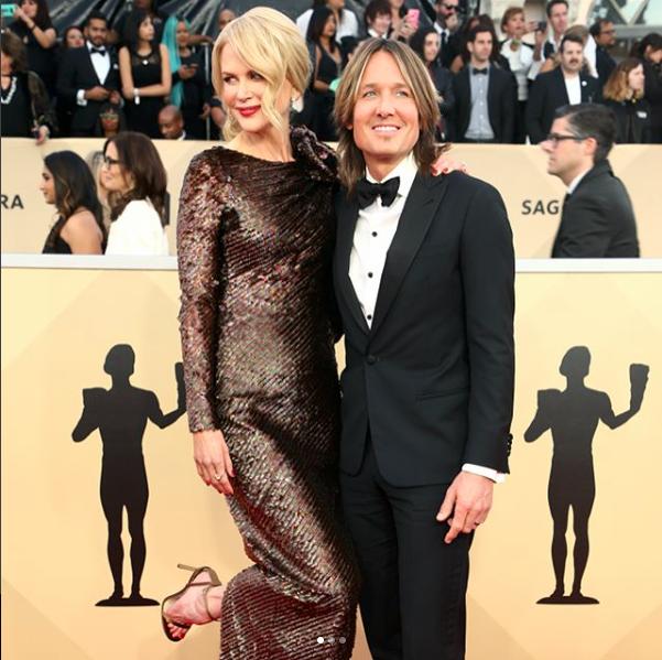 Keith Urban & Nicole Kidman at the SAG Awards