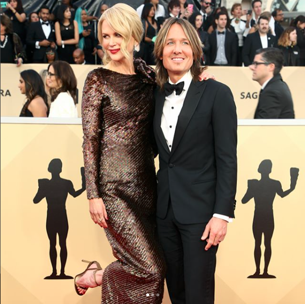 Keith Urban & Nicole Kidman at the SAG Awards