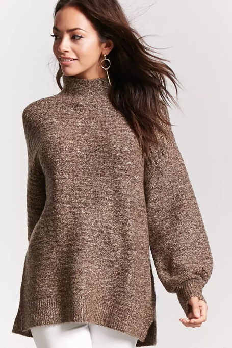 Cozy Sweaters For Under $100: Marled Mock Neck Sweater | Fall Fashion 2017