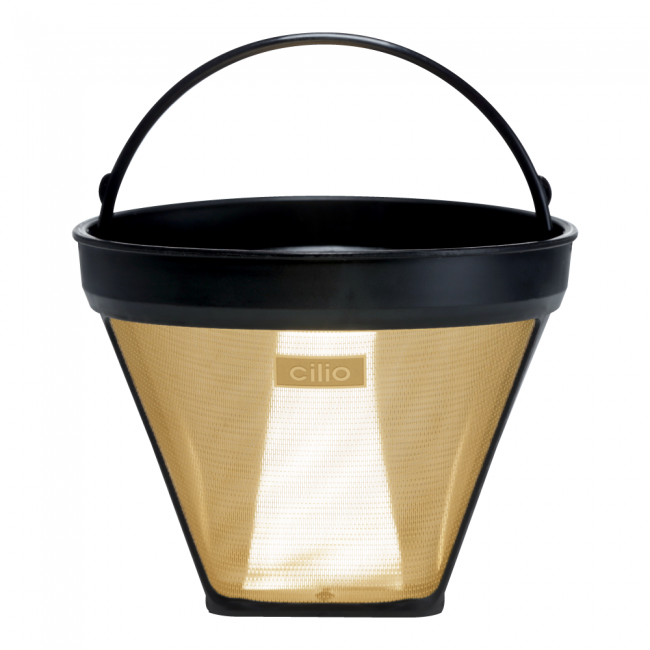 gold-plated coffee filter