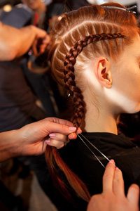 Hair at Christian Siriano Fall/Winter 2012 show