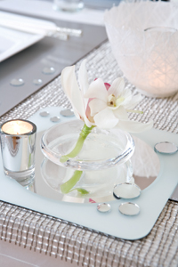 Tabletop with sparkle and shine
