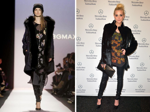 BCBG show at NYFW 2013 and Ashlee Simpson at NYFW 2013