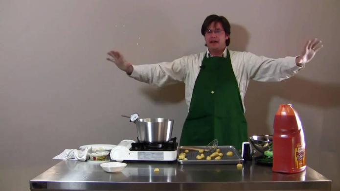 Frying gnocchi produces unexpectedly hilarious results