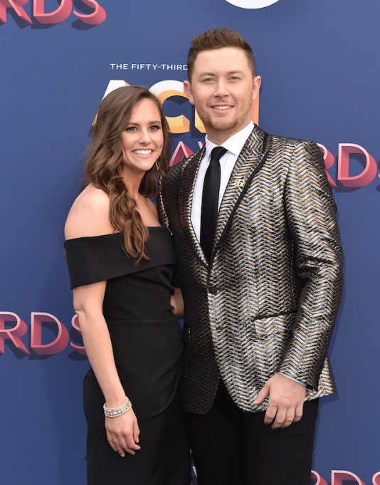 Scotty McCreery and Gabi Dugal attend the 53rd Academy of Country Music Awards