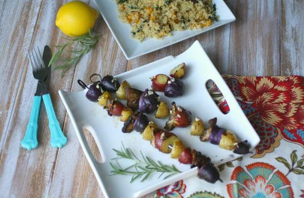 Meatless Monday: Grilled mushroom and potato