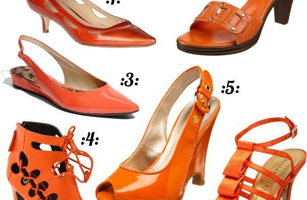 Zesty orange shoes