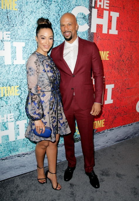 Common & Angela Rye at the premiere of 'The Chi'