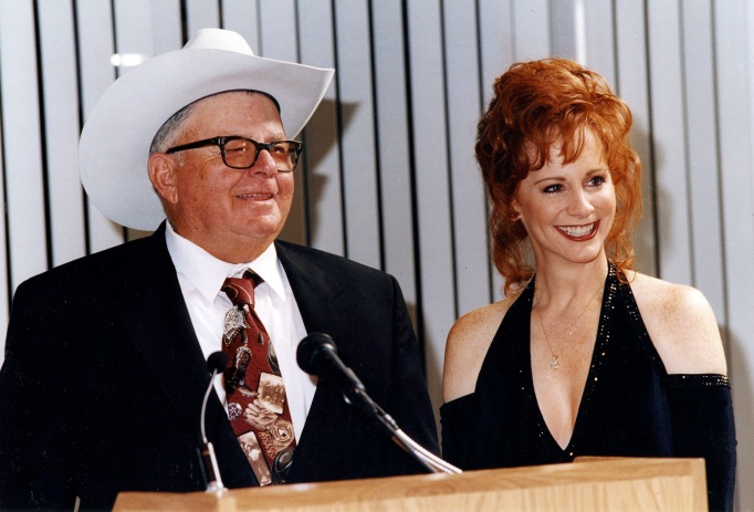Reba McEntire and her dad
