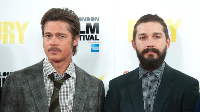 Brad Pitt mentored Shia LaBeouf in