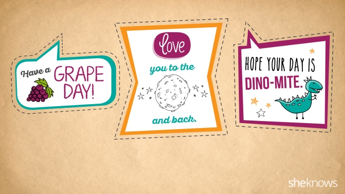 Fun lunchbox notes you can print