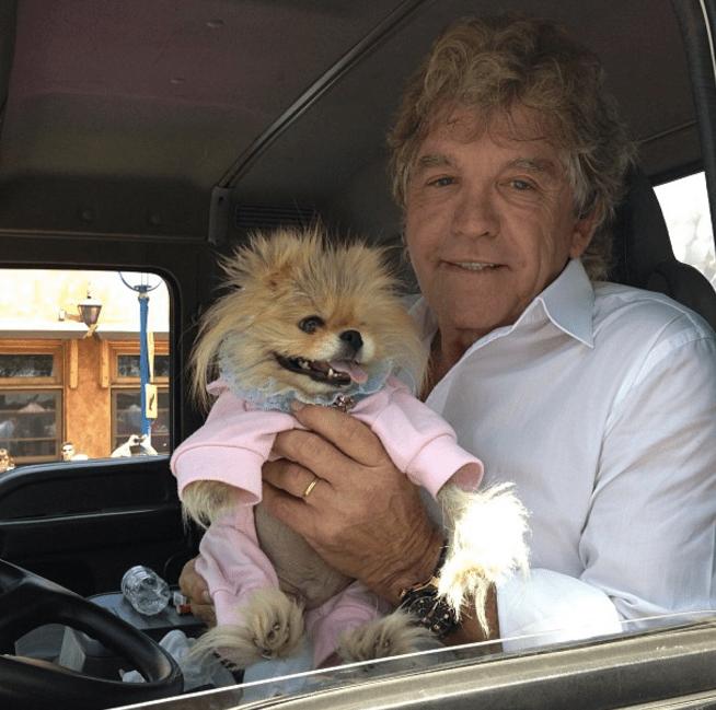 Ken Todd and his dog