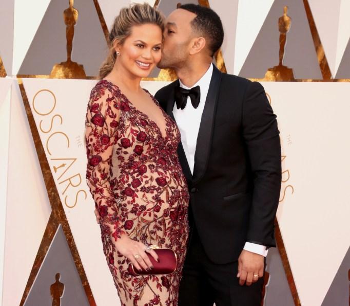 Chrissy Teigen & John Legend Oscars 2016