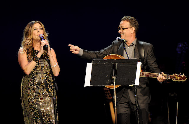 Rita Wilson and Tom Hanks at the Children's Health Fund 25th anniversary concert in 2012
