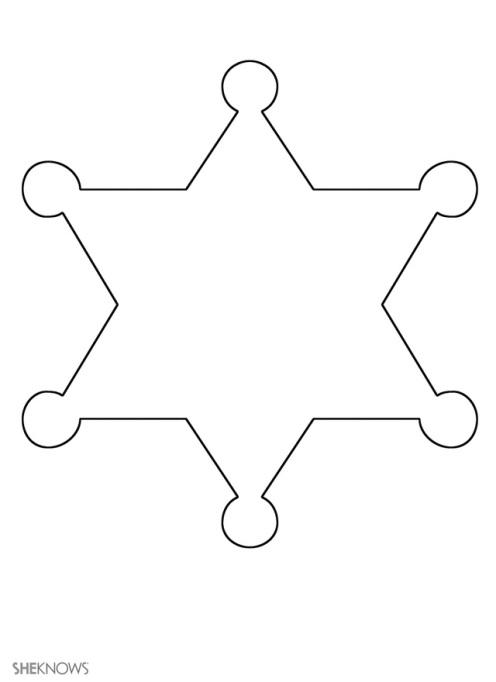 Craft template design sheriff badge