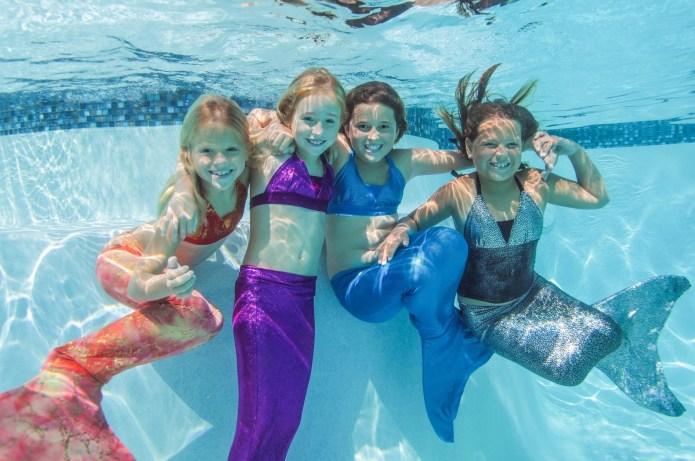 Mermaid tails at public pools seem