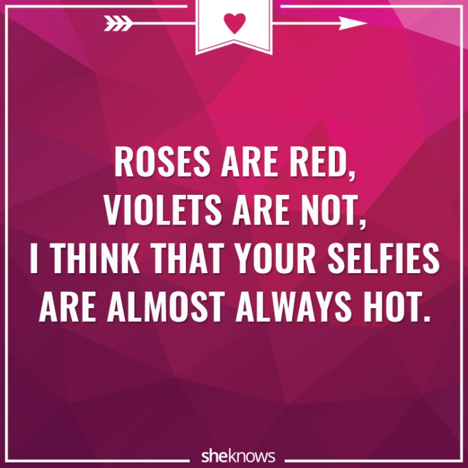 Funny Valentine's Day poem about selfies