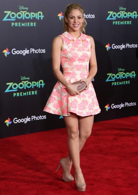Shakira at Zootopia premiere