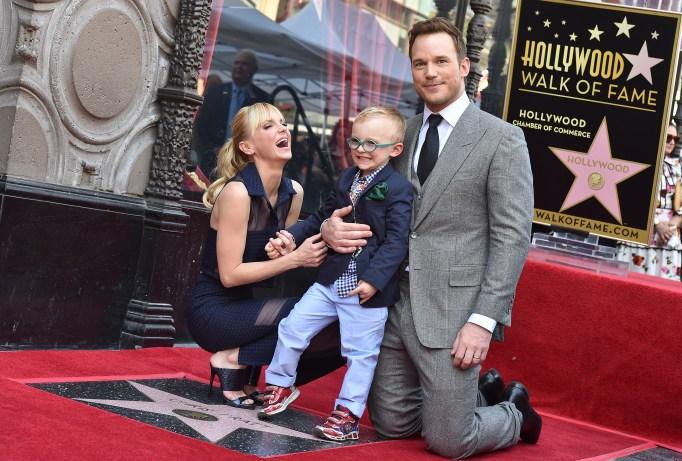 Chris Pratt, Anna Faris and their son Jack are basically the cutest family ever