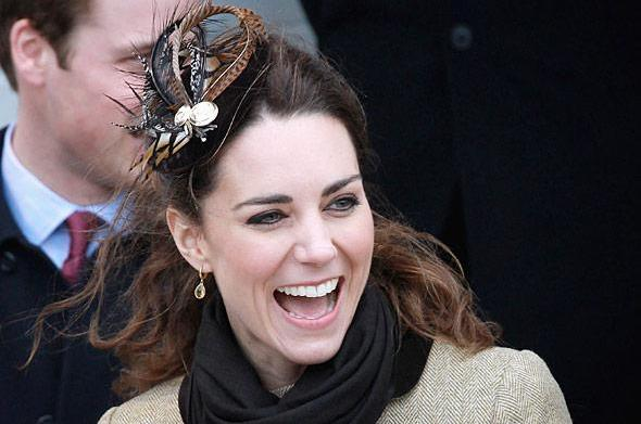 Kate Middleton's feathered head piece