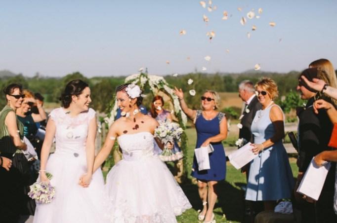 Two brides wedding photo