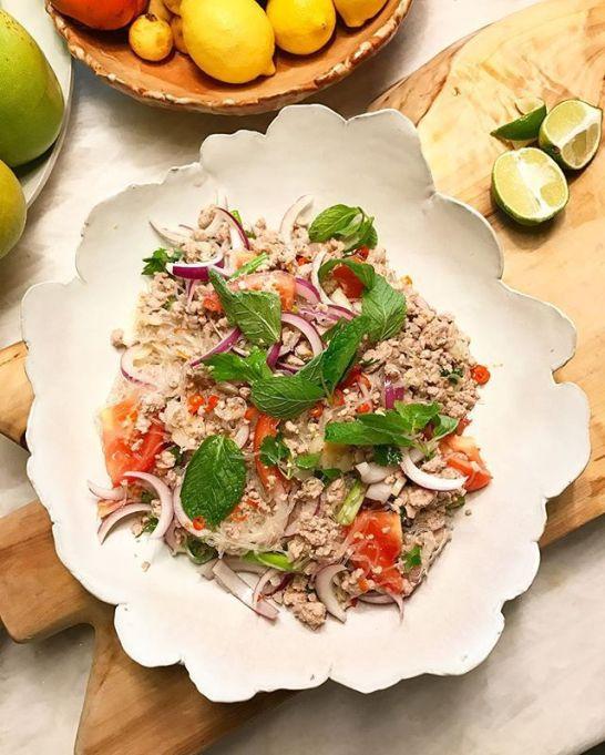 Chrissy Teigen Mouth Watering Recipes: Yum Woon Sen   Celebrity Eats