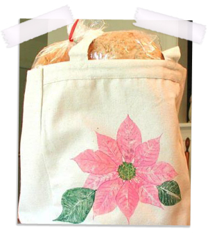 Oak hand painted canvas tote bag