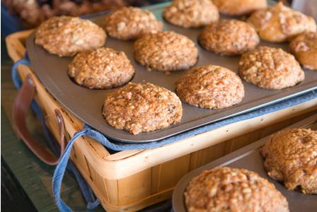Oatmeal carrot muffin