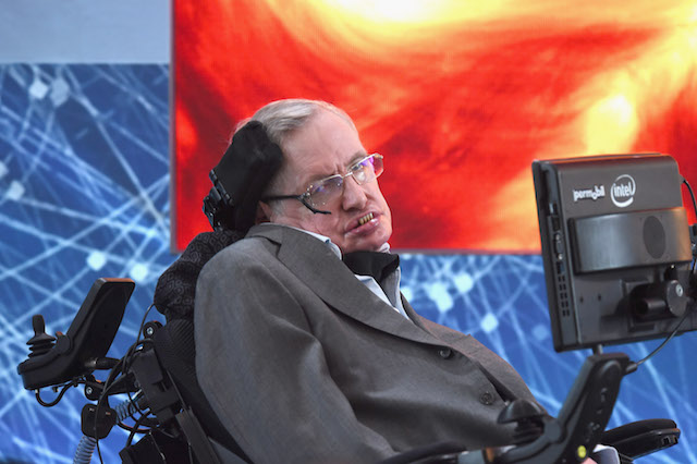 Stephen Hawking at the New Space Exploration Initiative 'Breakthrough Starshot' Announcement at One World Observatory