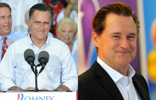 Mitt Romney and Bill Pullman