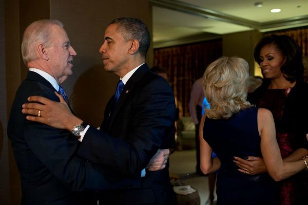 The Bidens congratulate the Obamas