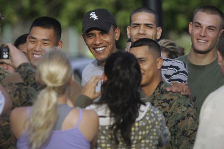 President Obama in Hawaii for Christmas 2008