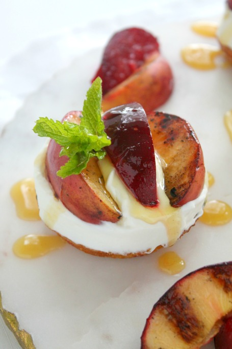 Grilled dessert recipes: Grilled summer fruit sundaes pair ice cream with ripe produce