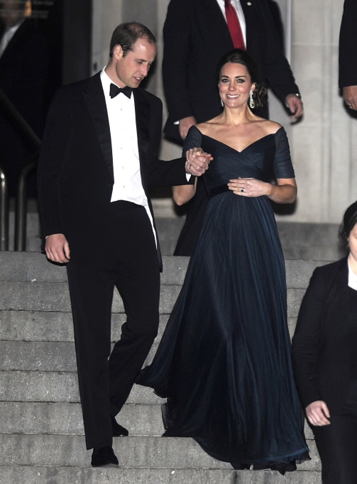 Kate Middleton midnight blue gown