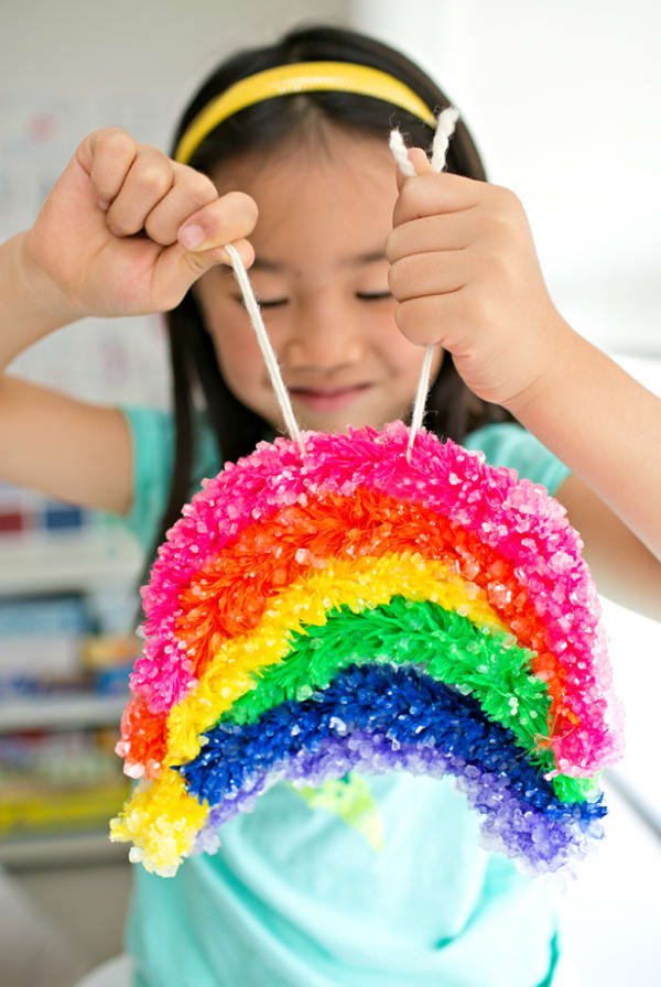 Kids Science Experiments and Projects for School: Giant crystal rainbow