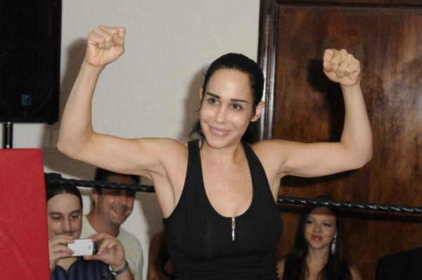 Octomom Nadya Suleman at Celebrity Boxing Match