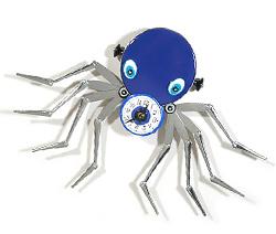 Blue Octopus Everyday Object Clock Sculpture
