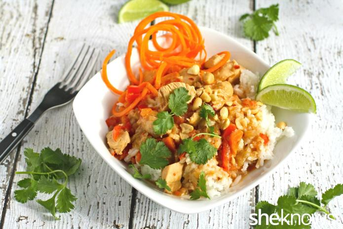 Slow Cooker Sunday: Peanutty Thai chicken