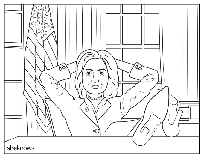 Hillary Clinton in the Oval Office