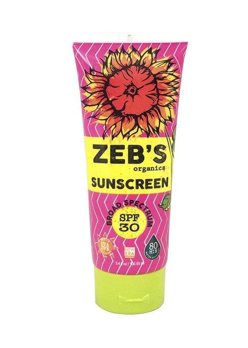 Zeb's Organic Sunscreen SPF 30