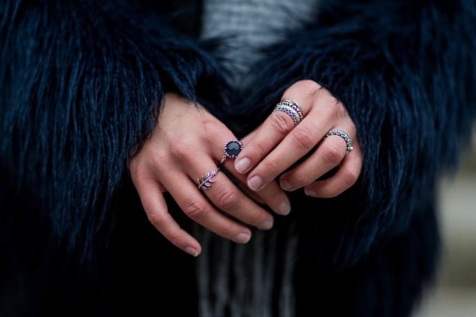 Wearing layered rings
